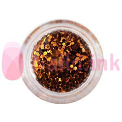 Hexagon Nail Art Glitter - Bronze