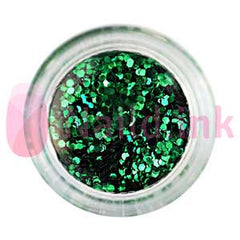 Hexagon Nail Art Glitter - Green Grass