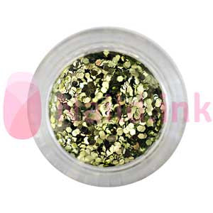 Hexagon Nail Art Glitter - Olive Green