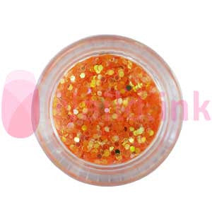 Hexagon Nail Art Glitter - Orange