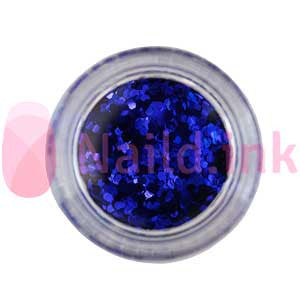 Hexagon Nail Art Glitter - Royal Blue