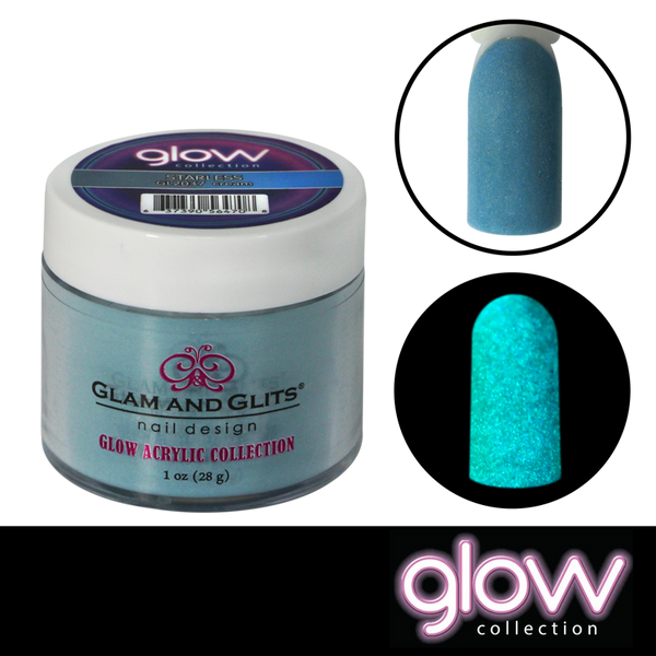 Glam and Glits Glow Acrylic Powder - Starless