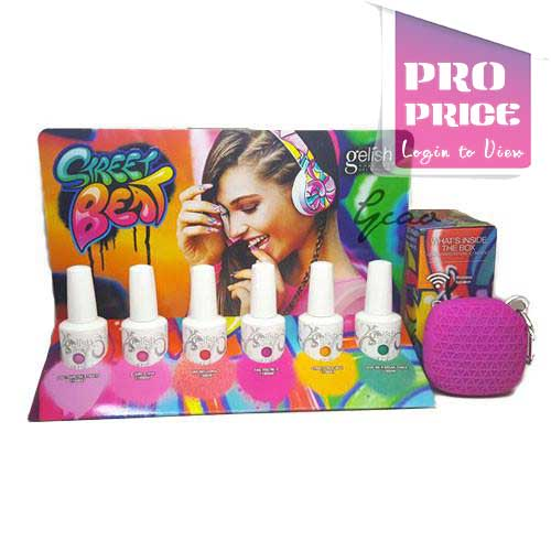 Gelish - Street Beat Collection (with Stand & Gift)