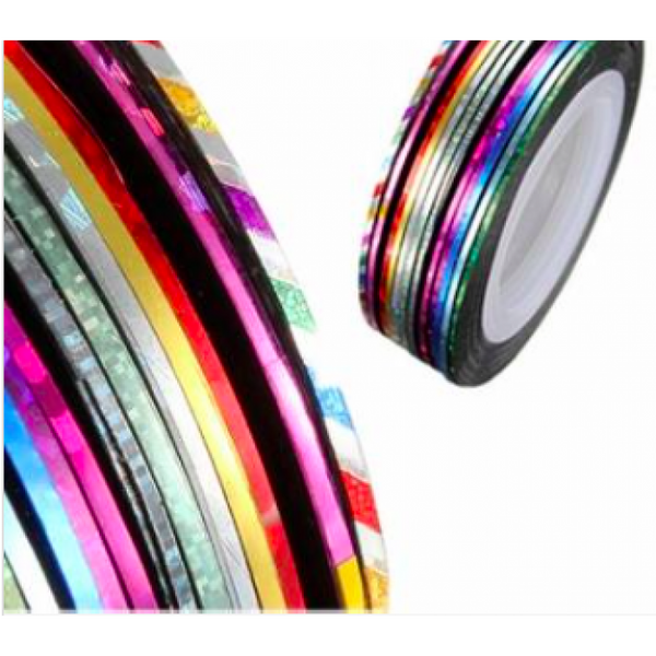 Striping Tape - 10 Mixed Colors