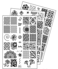 UberChic Nail Stamping Plates - Collection 10 (Set of 3)