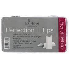 EzFlow Perfection II Tips - Choose Natural or French White (100 count)