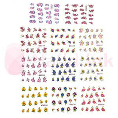 Nail Art Stickers - Various Flowers