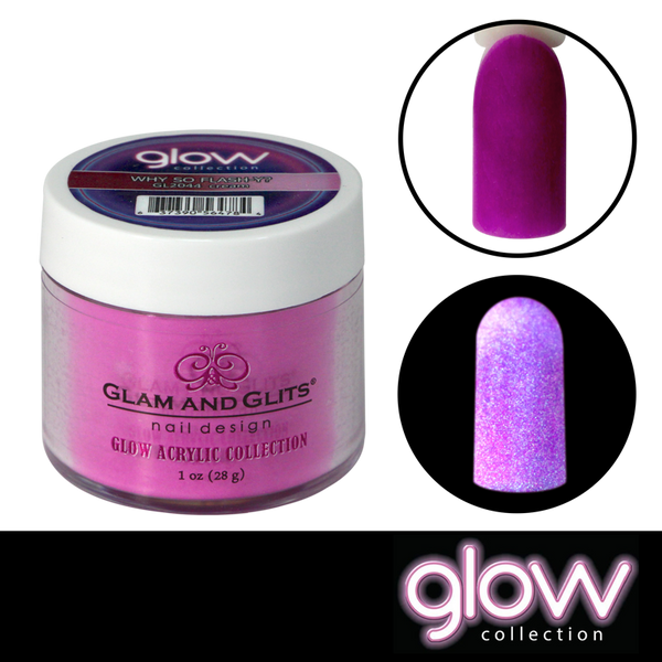 Glam and Glits Glow Acrylic Powder - Why So Flash-y?