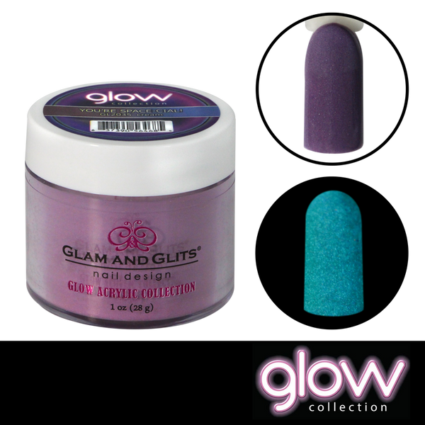 Glam and Glits Glow Acrylic Powder - You're Space-cial!