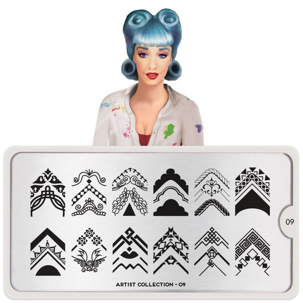 MoYou London Stamping Plate - Artist 09