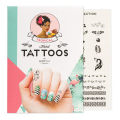 MoYou London Tattoos Hand - Tropical (Black 02)