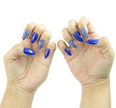 Nailhur Snap On Manicure - Blue Me Away (Stiletto)