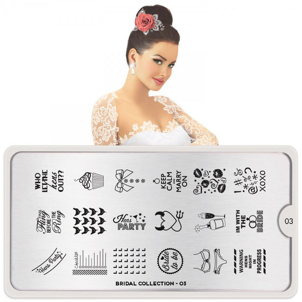 MoYou London Stamping Plate - Bridal 03