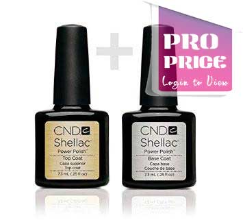 CND Shellac Base and Top Coat Combo (7.3ml or 12.5ml & 15ml)