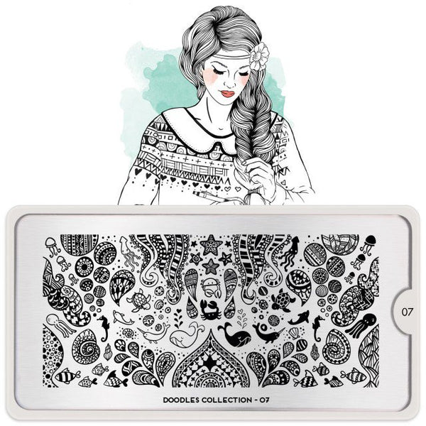MoYou London Stamping Plate - Doodles 07