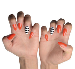 Nailhur Snap On Manicure - Fierce Feline (Stiletto)