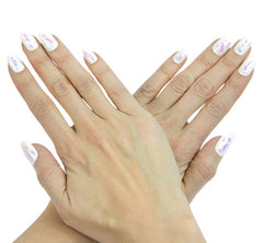 Nailhur Snap On Manicure - Ghost (Oval)
