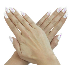 Nailhur Snap On Manicure - Ghost (Stiletto)