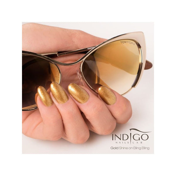 Indigo Nails Shine On Bling Bling Gel - Gold