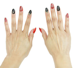 Nailhur Snap On Manicure - Gossip Girl (Oval)