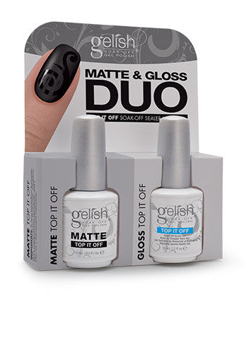 Gelish - Matte & Gloss Duo (15ml each)