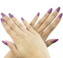 Nailhur Snap On Manicure - Muave (Oval)