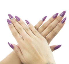 Nailhur Snap On Manicure - Muave (Stiletto)