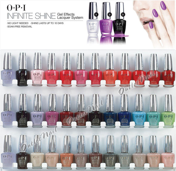 OPI Metal Wall Display - White (36 bottles)
