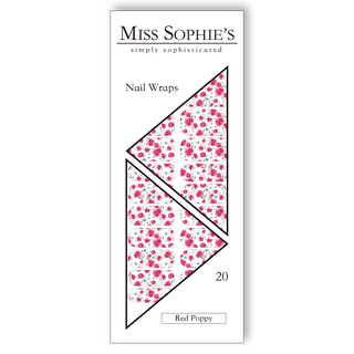 Miss Sophie's Nail Wraps - Red Poppy
