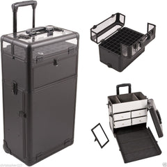 Nail Tech Aluminum Storage Roller Case (E Series)