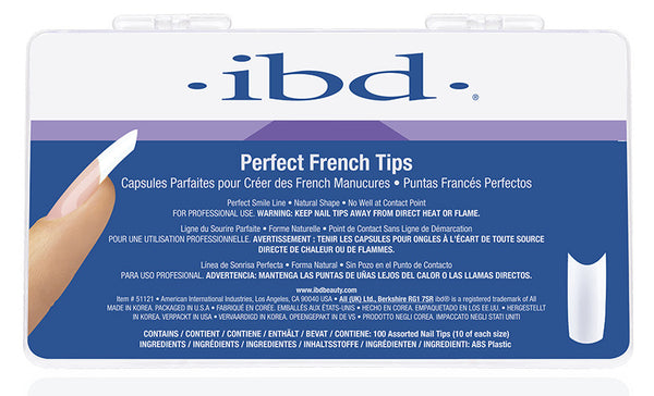 IBD Nail Tips - Perfect French (100 Pieces)
