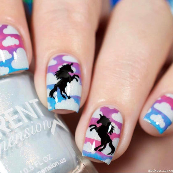 Whats Up Nails Nail Vinyl - Unicorn Stencils