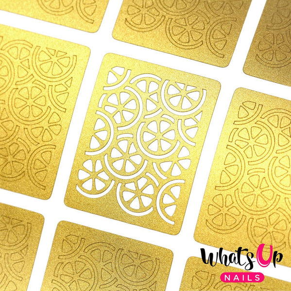 Whats Up Nails Nail Vinyl - Citrus Stencils