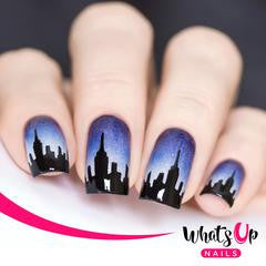 Whats Up Nails Nail Vinyl - City Stencils