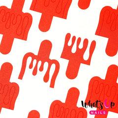 Whats Up Nails Nail Vinyl - Dripping Stencils