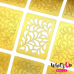 Whats Up Nails Nail Vinyl - Floral Splash Stencils