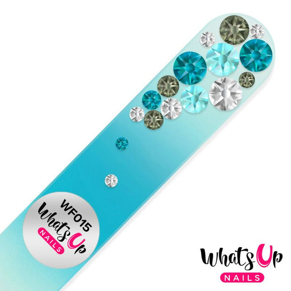 Whats Up Nails - Glass Nail File Bubbles Color Turquoise
