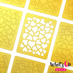 Whats Up Nails Nail Vinyl - Hearts Stencils