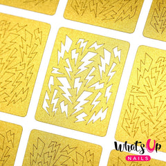 Whats Up Nails Nail Vinyl - Lightning Bolts Stencils