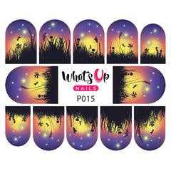 Whats Up Nails - P015 Fields of Fireflies Water Decals