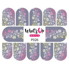 Whats Up Nails - P026 Faded Floral Water Decals
