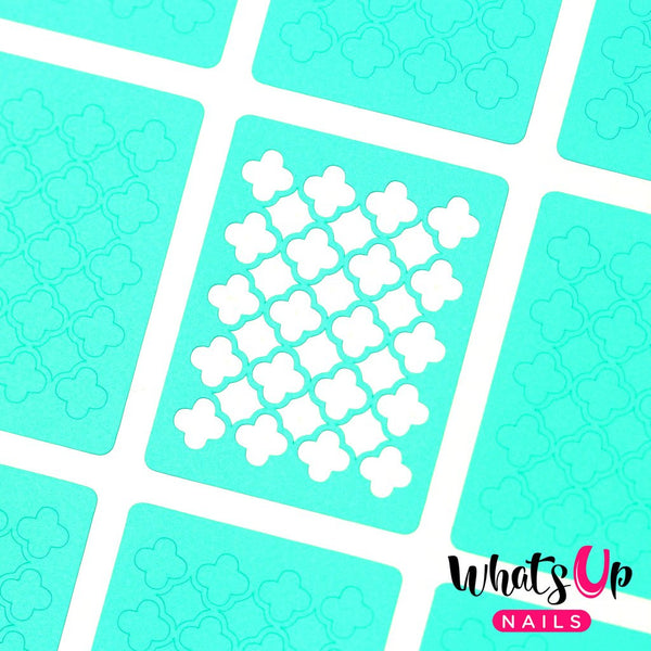 Whats Up Nails Nail Vinyl - Quatrefoil Stencils