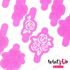 Whats Up Nails Nail Vinyl - Roses Stencils