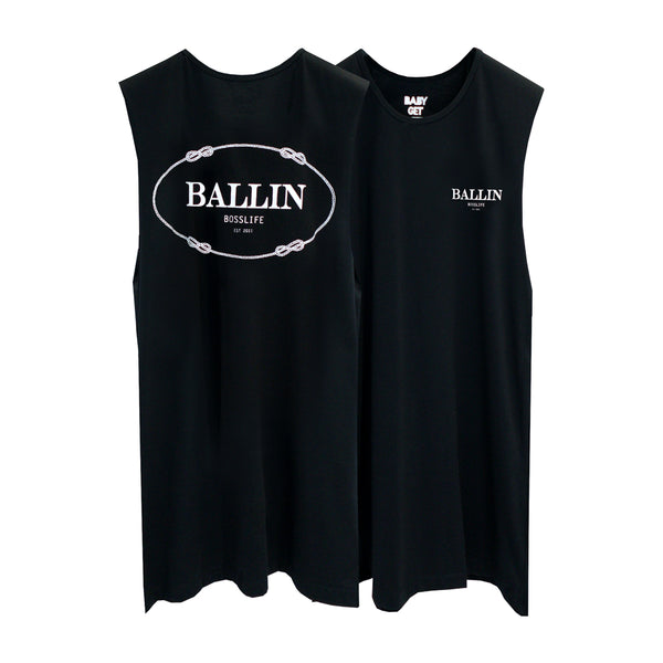 BALLIN BOSSLIFE BOYS MUSCLE TEE SMALL PRINTS
