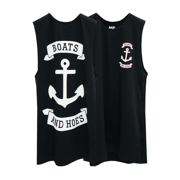 BOATS & HOES BOYS MUSCLE TEE SMALL PRINTS