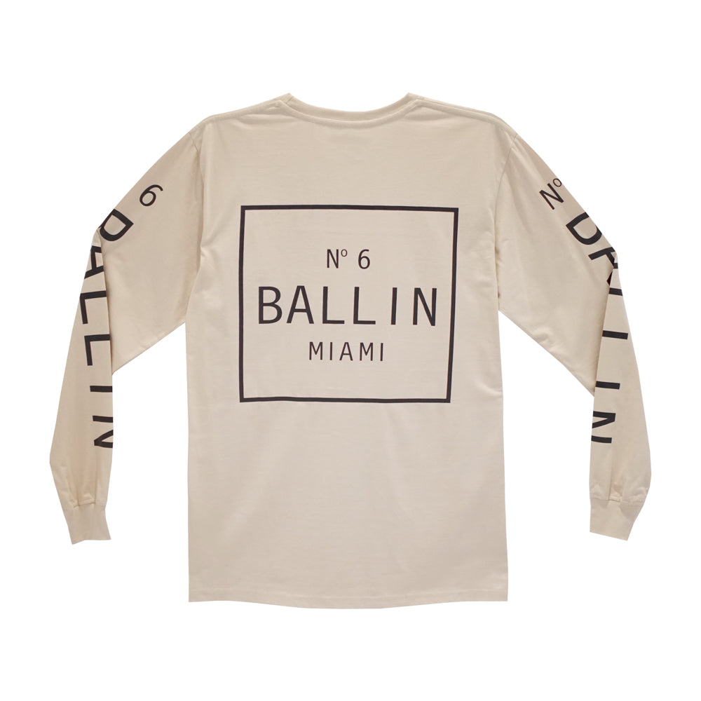 BALLIN LONG SLEEVE TAN