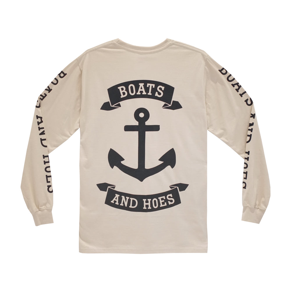 BOATS & HOES LONG SLEEVE TAN