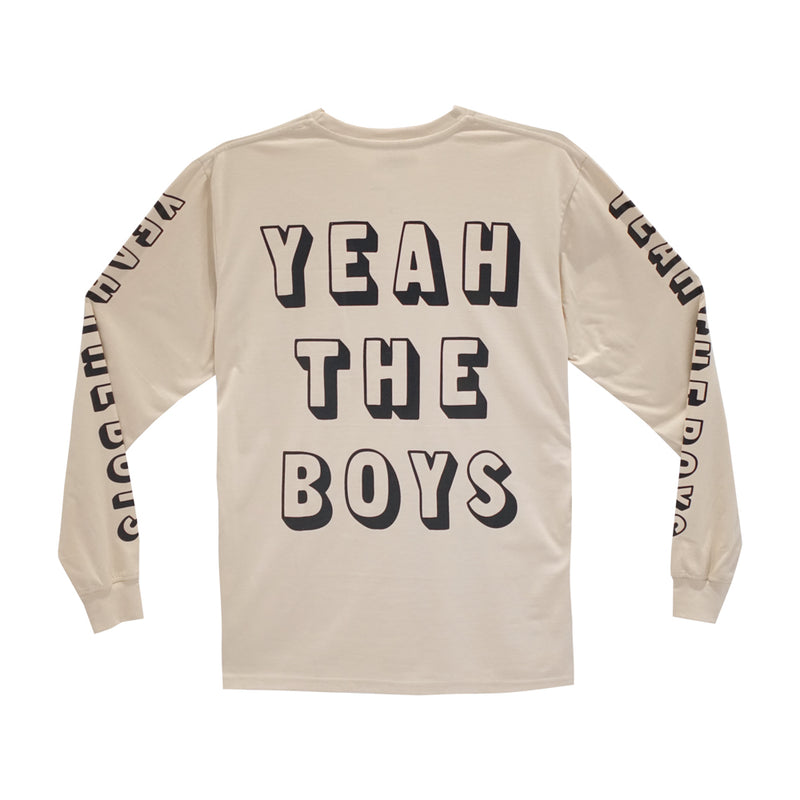 YEAH THE BOYS LONG SLEEVE TAN