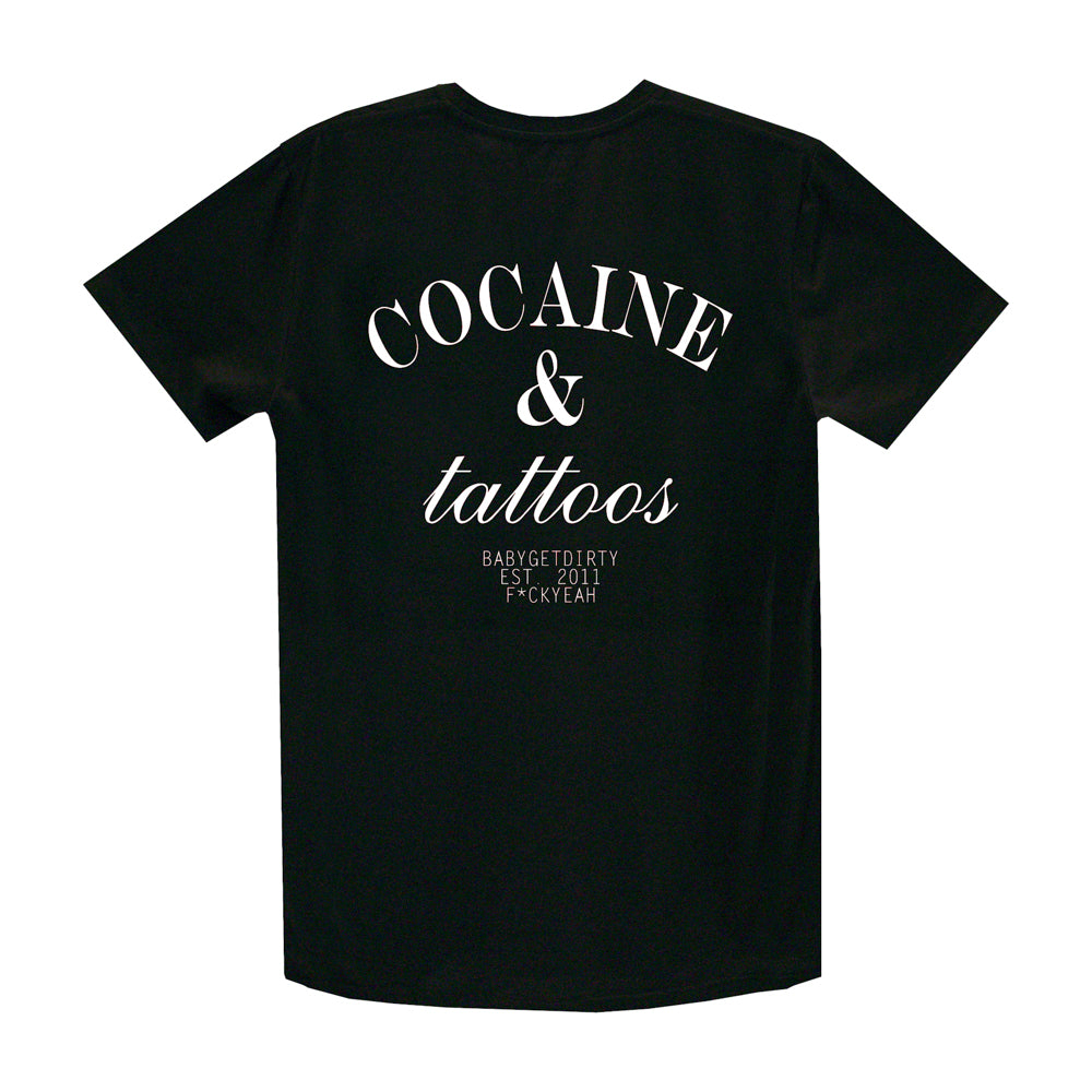 COCAINE & TATTOOS SMALL PRINT TEE