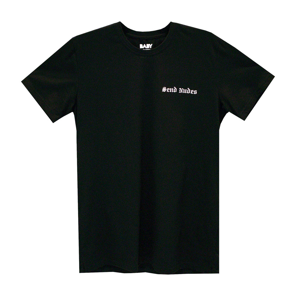 SEND NUDES SMALL PRINT TEE
